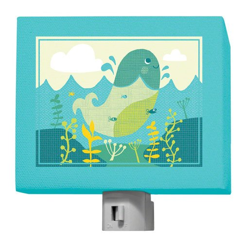 Oopsy Daisy A to Z Animals Whale Night Light, Aqua, 5 x 4