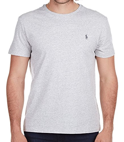(Polo Ralph Lauren Men's Classic Fit Solid Crewneck T-Shirt (Small, Platinum Gray Heather))