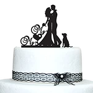 wedding cake topper silhouette with dogs buythrow wedding cake toppers with 26501