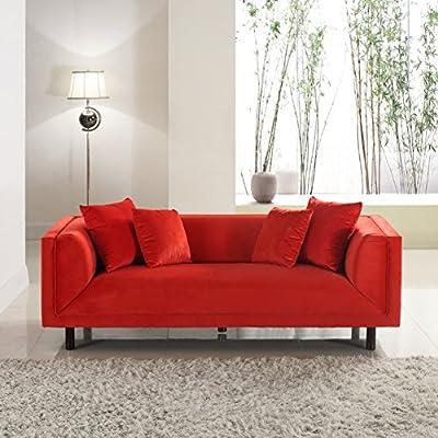 Mid-Century Modern Contemporary Velvet Sofa