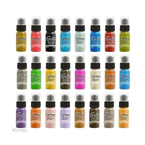 (Ship from USA) Tim Holtz Distress paint set complete lot 52 bottles Ranger includes Metallics by Usongs Trading INC