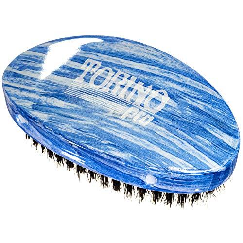 Torino Pro Wave Brushes By Brush King #19- Medium Curve Palm Brush- For 360 - Waves Torino