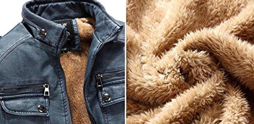 Grueso Chaqueta Sheepskin Clásico Cuero Amarillo Cuello Invierno Soporte Jiinn Lana Forro Abrigo Caliente Libre Espesor Casual Corderos Hombres Es8818 wp0qSxS8O