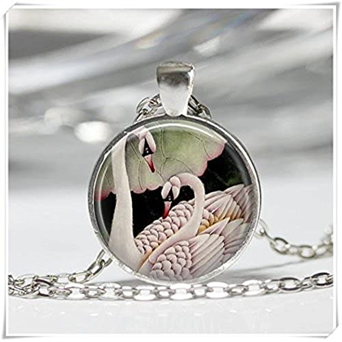 Beautiful Dandelion Collar de cisne blanco romántico colgante de cisne
