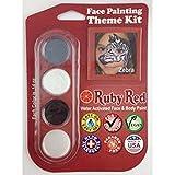zebra face paint - Ruby Red Paint, Inc. THEMEZEBRA Face Paint, 2ML X 3 Colors - Zebra
