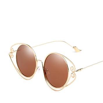 Aoligei Gafas de Sol de Personalidad Redonda Marco geometría ...