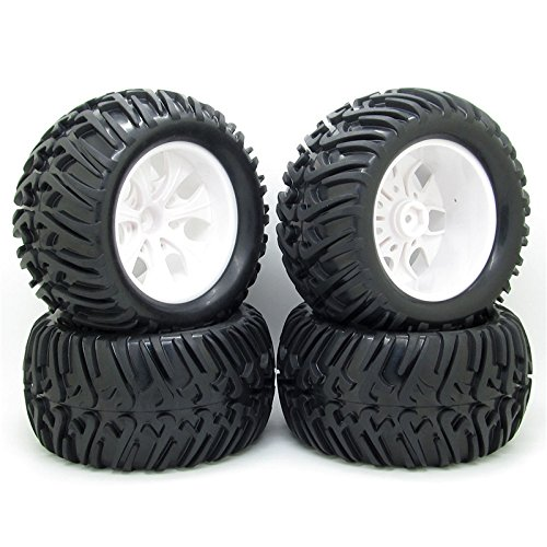 Price comparison product image 4x 128mm RC 1 / 10 Monster Truck Bigfoot Tyre Tires &12mm HEX Wheel Rim Hub for HSP