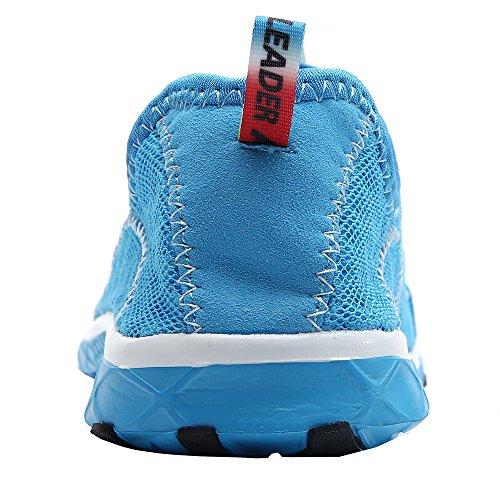 da Blue Mesh Aleader uomo Shoes Anfibious Slip On YqgFp