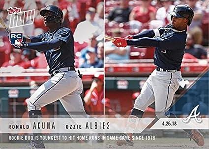Amazon.com  2018 Topps Now Baseball  130 Ronald Acuna Ozzie Albies ... 69f52ad50