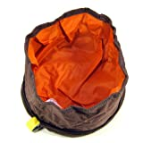 Folding Collapsible Travel Food & Water Bowl for Pets Dogs Cats (Coffee-Brown) by LULU-PET
