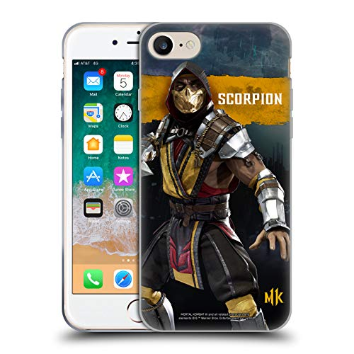 Official Mortal Kombat 11 Scorpion Characters Soft Gel Case Compatible for iPhone 7 / iPhone 8