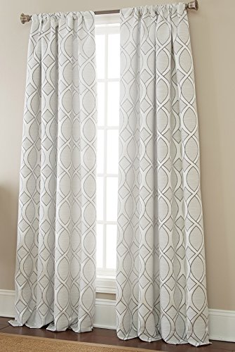 Sherry Pattern Kline (Sherry Kline Infinity Jacquard 84 Window Panel, Linen Silver, 2 Piece)