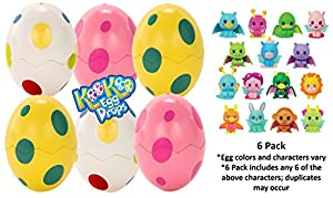 KooKoo Egg Drops 6-Pack of Surprise Eggs – Blind Bag of Surprise Eggs Compatible with Any KooKoo Egg Drops Bird – Each Contains an Adorable, Collectible Egg Drop Baby (Styles and colors vary)