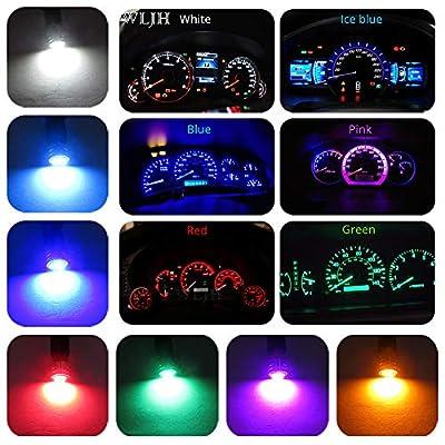 WLJH PC195 PC194 PC168 Instrument Cluster Led Bulbs Lights T10 194 Bulb Twist Locks Socket Base Dash Light Dashboard Panel Gauge Led Super Nice Bright Pink (Pink Purple,Pack of 6): Automotive