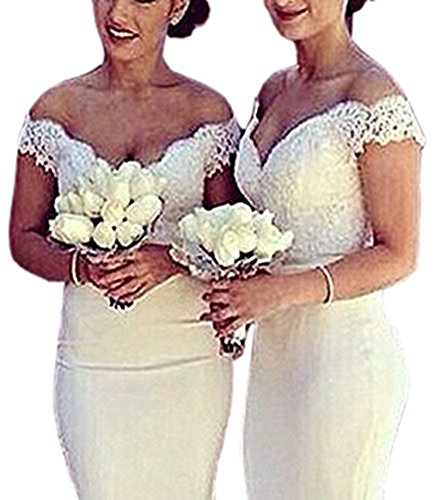 Dress Dress Off Long Mermaid The Gown Ivory Prom Evening Shoulder Sexy Bridesmaid HwAqx4Oq