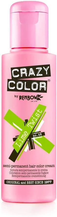 Crazy Color Lime Twist Nº 68 Crema Colorante del Cabello Semi-permanente