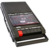 QFX RETRO39 SHOEBOX Tape Player Recorder USB Black