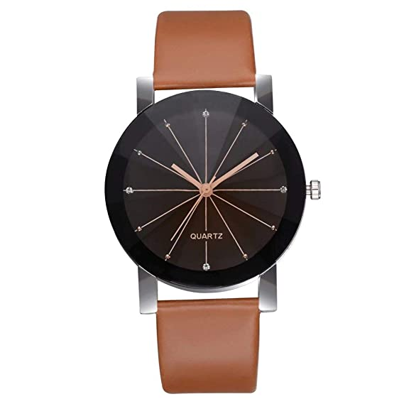Reloj Moderno de Cuarzo con Pulsera de Cero para Hombre y Mujer: Amazon.es: Relojes
