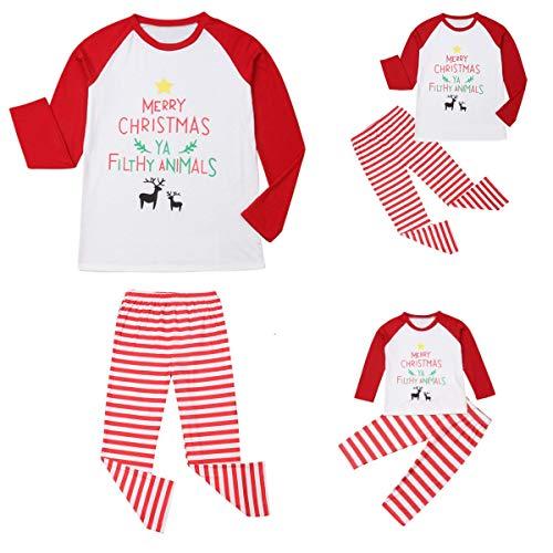 Christmas Family Pajamas Pjs for Women Men Kids