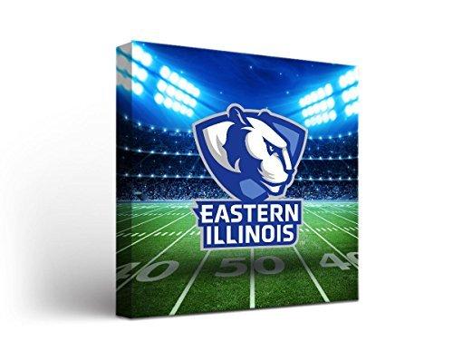 Eastern Illinois EIU Panthersキャンバス壁アートStadiumデザイン 24x36  B00WIZBHRA