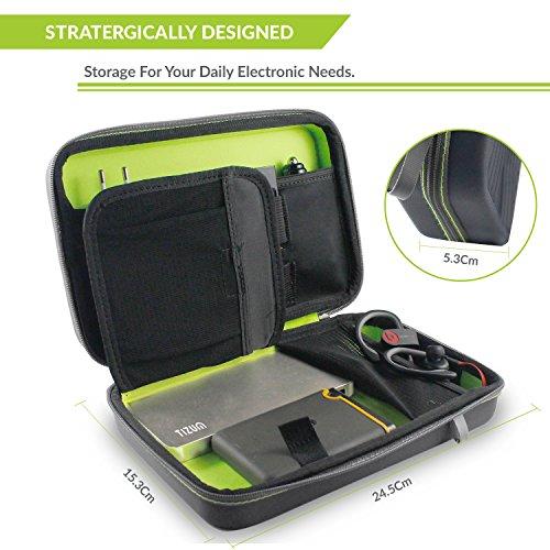 Tizum Portable EVA Universal Electronic Travel Gadgets & Accessories Organizer Multipurpose Pouch, Rugged Travel Friendly (Gray)