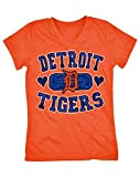 5th & Ocean MLB Detroit Tigers Baseball Team Girl's Short Sleeve Graphic Tee, T-Shirt