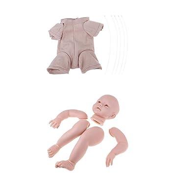 Amazon.es: KESOTO Sin Pintar Reborn Full Limb Modelo Ropa de Body Baby Supplies Accessorios - 28 Pulgadas: Juguetes y juegos