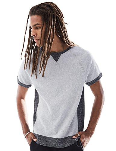 Rebel Canyon Young Men's Short Sleeve Crewneck Side Contrast Sweatshirt Top