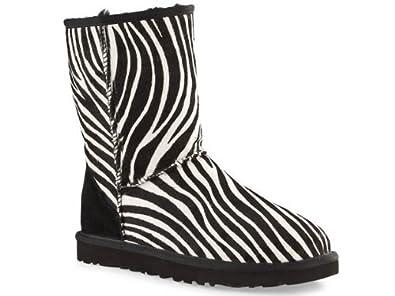 894f741e993 UGG Womens Classic Short Exotic Zebra Print Ankle Boots 3.5: Amazon ...