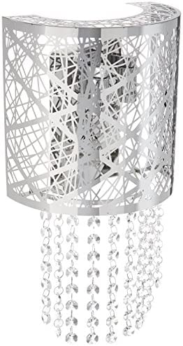 PLC Lighting 77742 PC Nest Collection 2 Light Wall Sconce, Polished Chrome