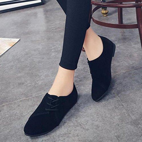 Plat Fond Aider Noir Chaussures Lacets Basse Fulltime® Tête Occasionnelles Pour Femmes Plates À qZvFc0wzx