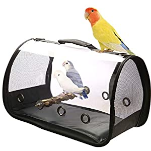 Blue Mars Bird Carrier, Bird Travel Cage Portable&Breathable&Lightweight Pets Birds Travel Cage