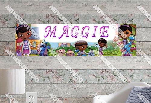 Personalized Doc Mcstuffins Birthday Banner (Doc McStuffins #2 - 8.5