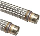 Unisource SF21 Stainless Steel Cryogenic Liquid Transfer Hose Assembly, 1/2'' Stainless Steel NPT Male Connection, 1075 PSI Maximum Pressure, 48'' Length, 1/2'' ID