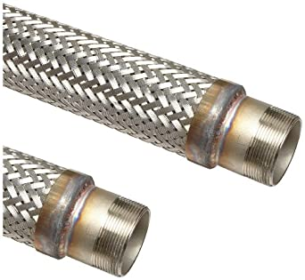 Unisource SF21 Stainless Steel Cryogenic Liquid Transfer Hose Assembly, Stainless Steel NPT Male Connection