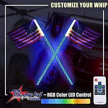 Amazon Com Xprite 5ft 1 5m Led Whip Lights Flag Pole