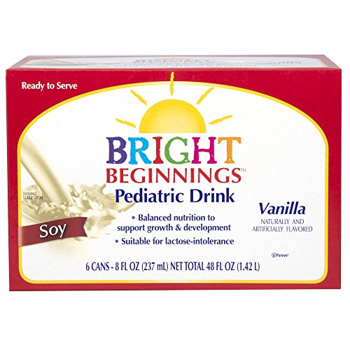 (Bright Beginnings Soy Pediatric Nutritional Drink, Vanilla, 8oz Cans 6-Count, (Pack of 4))
