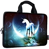 "iColor 9.7"" 10"" 10.1"" 10.2"" inch Neoprene Tablet Bag Carring Case Sleeve Cover with Handle for 9.7 to 10.2 Inch Laptops/Notebook/ebooks/Kids Tablet/Apple ipad Unicorn ICB10-03"