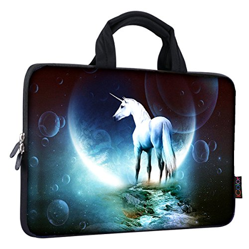 .6 inch Laptop Handle bag Computer Protect Case Pouch Holder Notebook Sleeve Neoprene Cover Soft Carring Travel Case for Dell Lenovo Toshiba HP Chromebook ASUS Acer Unicorn ICB-03 ()