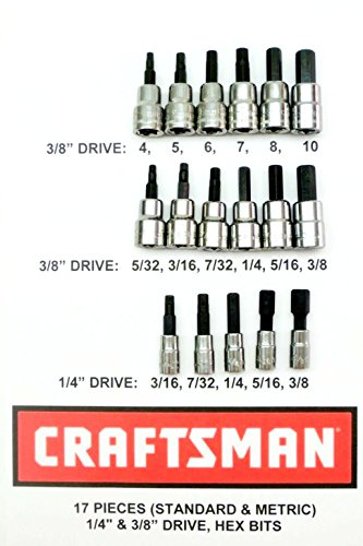 Craftsman 17 Piece Standard Sae + Meric MM 3/8