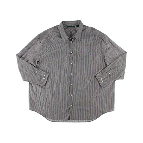 Perry Ellis Mens Big & Tall Cotton Striped Button-Down Shirt Multi 2XLT