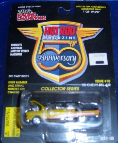 Hot Rod Magazine 50th Anniversary Adult Collectible 1:61 #10 '55 Chevy Bel Air by Hot Rod Magazine