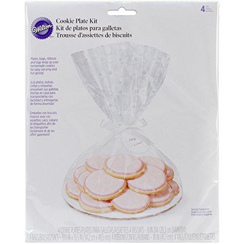 (Wilton 1912-0423 Cookie Plate Bake Ware Kit, 4-Pack)