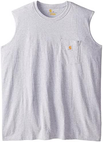 Carhartt Men's Big & Tall Workwear Pocket Sleeveless Midweight T-Shirt Relaxed Fit