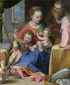'Federico Barocci The Madonna of the Cat (La Madonna del Gatto) ' oil painting, 18 x 22 inch / 46 x 56 cm ,printed on polyster Canvas ,this Replica Art DecorativePrints on Canvas is perfectly suitalbe for dining Room decor and Home artwork and Gifts