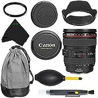Canon EF 24-105mm f/4L IS USM Standard Zoom Autofocus Lens Bundle for Canon EOS 7D, 60D, EOS Rebel SL1, T1i, T2i, T3, T3i, T4i, T5i, XS, XSi, XT, XTi International Version No Warranty