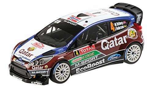 Minichamps Auto-Miniatur von Ford Fiesta RS WRC 2013 des Katar-M-Sport-Rallye-Teams aus der Rallye-Weltmeisterschaft Maßstab 1: 18