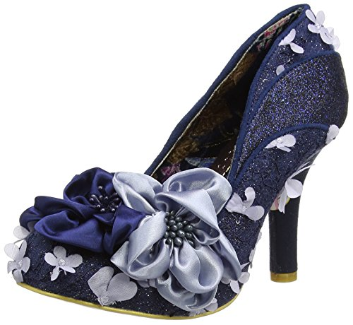 Irregular Choice Damen Peach Melba Pumps, Rose blau (marineblau)