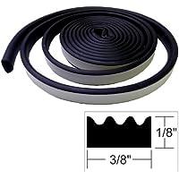 TACO METALS TACO Weather Seal - 10L x ⅛H x ⅜W - Black / V30-0113B10-1 /