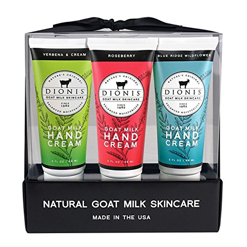 Dionis Goat Milk Hand Cream 3 Piece Gift Set - Flower Power